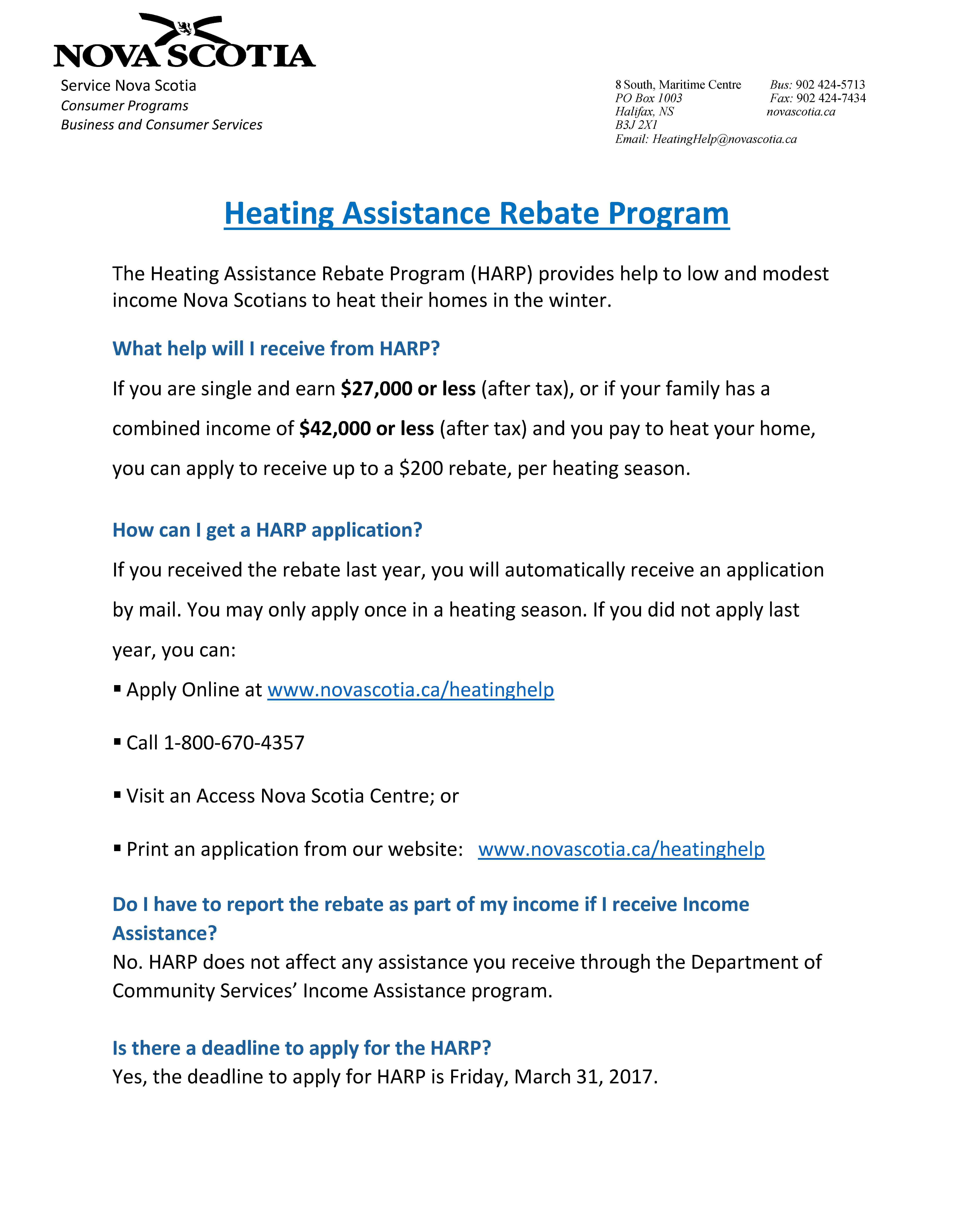 Heating assistance rebate HARP 2016 17 Municipalities Page 3